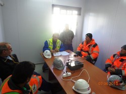 Safety issues discussed with the Union delegates, Montes del Plata/Uruguay