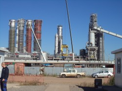 Tank erection in Fiberline, Montes del Plata/Uruguay