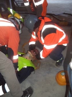 Drill for first aid, Montes de Plata/Uruguay
