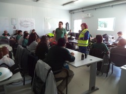 Training about working in confined space, Montes del Plata/Uruguay