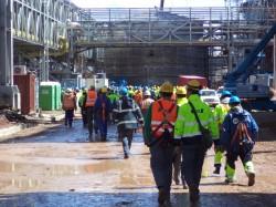 Evacuation drill in Boilers, Montes del Plata/Uruguay