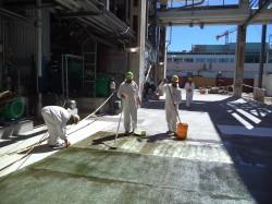 Floor painting, Fiberline, Montes del Plata/Uruguay