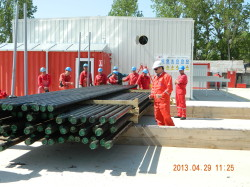 Work procedure regarding pipe storage, Poeni/Romania