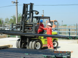 Fork lift operations, Pipe Yard Poeni/Romania