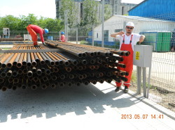 Inspection of storage area, Pipe Yard Videle/Romania